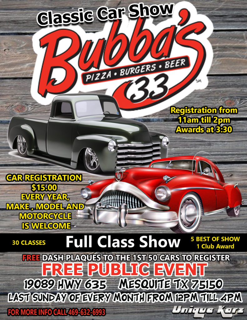 2019 Car Shows Every Last Sunday Of The Month March 31 October 27