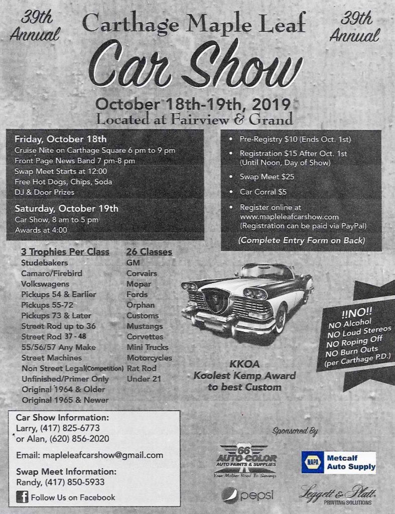 Missouri Car Show, car shows and automotive events